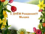 С ДНЁМ Рождения!!! Мышка