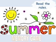 START Read the rules. MEMORY GAME SNORKELLING SAND