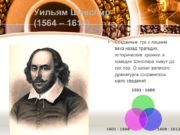 Уильям Шекспир (1564 – 1616) Созданные три с