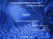 Karaganda State Medical University Chair of foreign languages