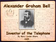 Alexander Graham Bell Inventor of the Telephone By