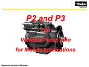 P2 and P3 Our Variable Pump Line for