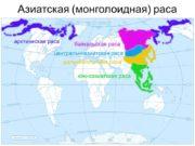 Азиатская (монголоидная) раса 1 (нганасанский тип) Северноазиатская раса