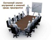Системный анализ внутренней и внешней среды предприятия