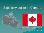 Electricity sector in Canada Kaigorodov Vyacheslav 2831b Canada