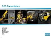 1  RCS Presentation Content:  Modular design