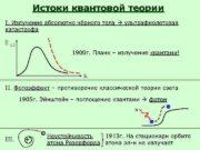 Истоки квантовой теории I. Излучение