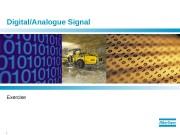1  Digital/Analogue Signal Exercise  2
