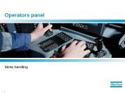 1  Operators panel Menu handling  2