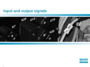 1  Input and output signals  2
