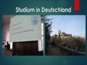 Studium in Deutschland Plan 1. Gründe in Deutschland