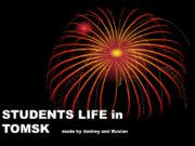 STUDENTS LIFE in TOMSK made by Andrey and