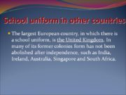 School uniform in other countries The largest European
