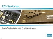1  RCS Service box Service Tool box