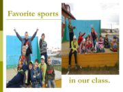 Favorite sports in our class. Favorite sports of