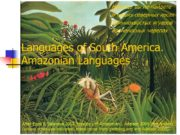 Languages of South America. Amazonian Languages After Epps