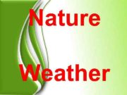 Nature Weather  How are you today? I'm
