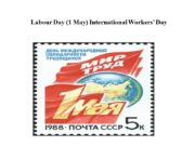 Labour Day (1 May) International Workers' Day In