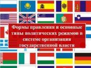 Формы правления и основные типы политических режимов в