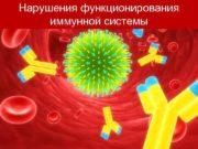Нарушения функционирования   иммунной системы