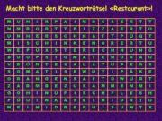 Macht bitte den Kreuzworträtsel «Restaurant» ! M