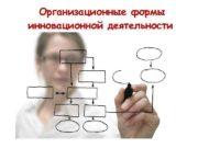 Организационные формы инновационной деятельности  Государственная инновационная