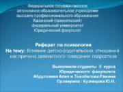 Федеральное государственное автономное образовательное учреждение высшего профессионального образования