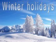 Winter holidays Winter holidays 1 Introduction 2 Main