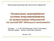Вінницький національний технічний університет Доповідач: ст. гр. 4Ем-09б