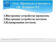Тема: Процессы и потоки в ОС Windows
