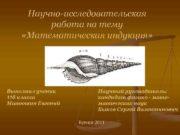 Научно-исследовательская работа на тему «Математическая индукция» Выполнил