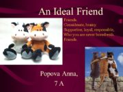 An Ideal Friend Friends. Considerate, brainy. Supportive, loyal,