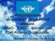 Международная организация гражданской авиации. ИКАО — ICAO
