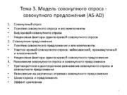 Тема 3. Модель совокупного спроса — совокупного предложения