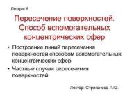 Лекция 6 Пересечение поверхностей. Способ вспомогательных концентрических сфер