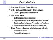 Central Africa Current Threat Conditions U.S. National Security