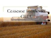 Сельское хозяйство США  США — крупнейший производитель