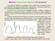 Металлы. Термическая обработка (ТО металлов)  ТО металлов.