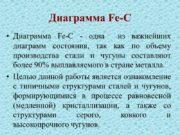 Диаграмма Fe-C Диаграмма Fe-C — одна из важнейших