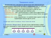 Топология сетей слайд 1 Топологией сети называется физическую