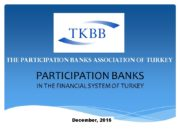 PARTICIPATION BANKS IN THE FINANCIAL SYSTEM OF TURKEY