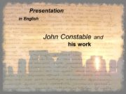 Presentation in English John Constable and his work