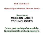 Prof. Vitaly Konov General Physics Institute, Moscow, Russia