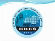 EBES (Eurasia Business and Economics Society) Ugur Can