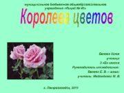 муниципальное бюджетное общеобразовательное учреждение «Лицей № 40» Белова