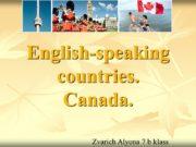 English-speaking countries. Canada. Zvarich Alyona 7 b klass