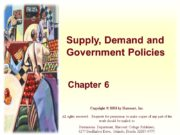 Supply, Demand and Government Policies Chapter 6 Copyright