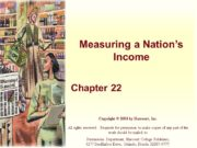 Measuring a Nation's Income Chapter 22 Copyright ©