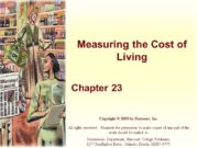 Measuring the Cost of Living Chapter 23 Copyright