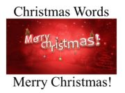 Christmas Words Merry Christmas! snow snowing snowflake snowflakes